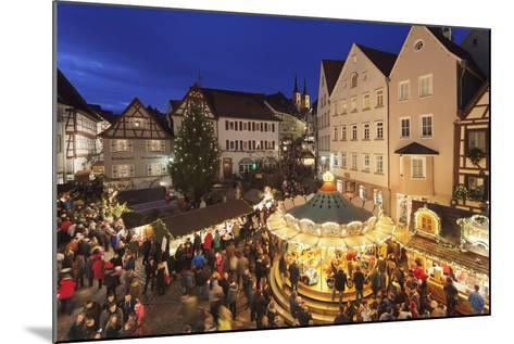Christmas Fair, Blauer Turm Tower, Bad Wimpfen, Baden-Wurttemberg, Germany, Europe-Markus Lange-Mounted Photographic Print