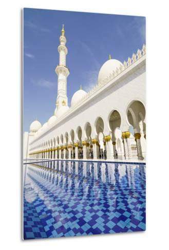 Sheikh Zayed Grand Mosque, Abu Dhabi, United Arab Emirates, Middle East-Fraser Hall-Metal Print