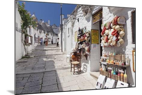 Souvenir Shop on Street of Trulli, Traditional Houses, Rione Monti Area-Markus Lange-Mounted Photographic Print