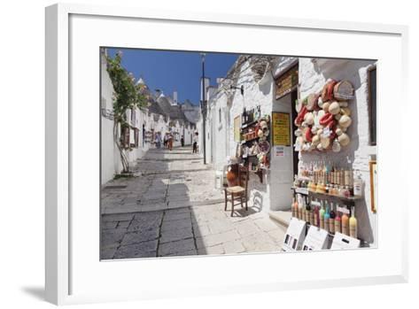 Souvenir Shop on Street of Trulli, Traditional Houses, Rione Monti Area-Markus Lange-Framed Art Print
