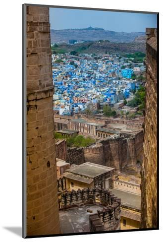The View from Mehrangarh Fort of the Blue Rooftops in Jodhpur, the Blue City, Rajasthan-Laura Grier-Mounted Photographic Print