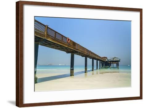 A Pier on Jumeirah Beach, Dubai, United Arab Emirates, Middle East-Fraser Hall-Framed Art Print