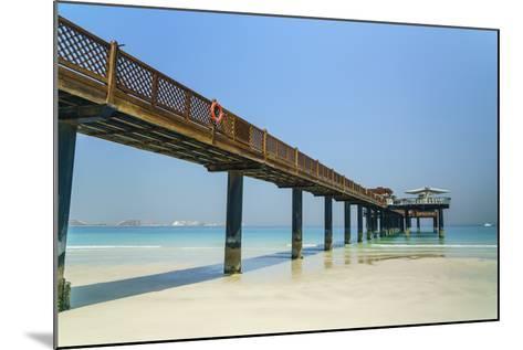 A Pier on Jumeirah Beach, Dubai, United Arab Emirates, Middle East-Fraser Hall-Mounted Photographic Print