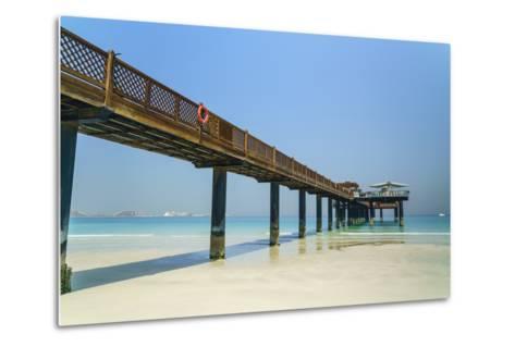 A Pier on Jumeirah Beach, Dubai, United Arab Emirates, Middle East-Fraser Hall-Metal Print