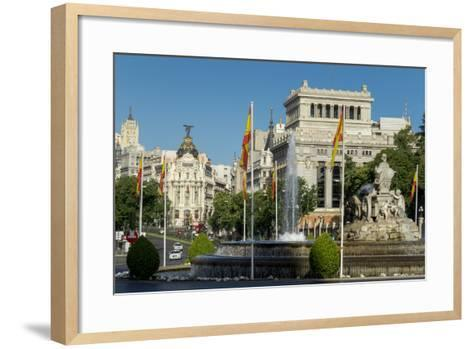 Calle De Alcala, Plaza De Cibeles, Madrid, Spain, Europe-Charles Bowman-Framed Art Print