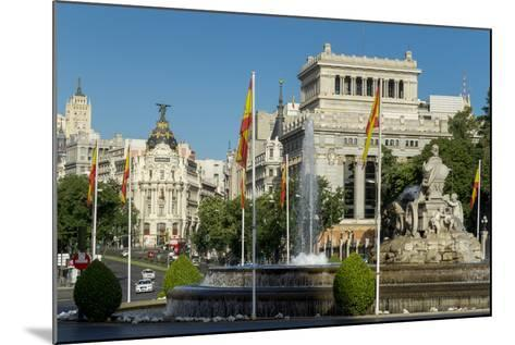 Calle De Alcala, Plaza De Cibeles, Madrid, Spain, Europe-Charles Bowman-Mounted Photographic Print