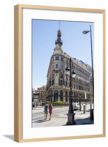 Banco Espanol De Credito Building, Madrid, Spain, Europe-Charles Bowman-Framed Art Print