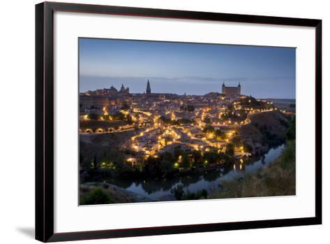Cityscape at Dusk, Toledo, Castile-La Mancha, Spain, Europe-Charles Bowman-Framed Art Print