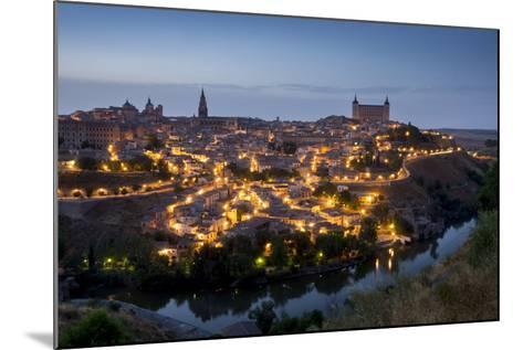 Cityscape at Dusk, Toledo, Castile-La Mancha, Spain, Europe-Charles Bowman-Mounted Photographic Print