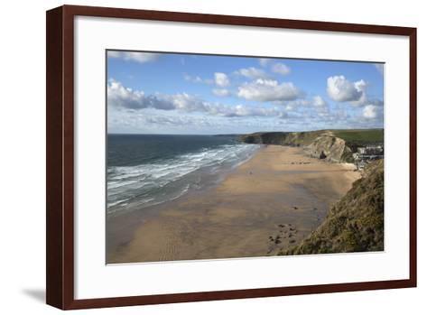 Watergate Bay, Newquay, Cornwall, England, United Kingdom, Europe-Stuart Black-Framed Art Print