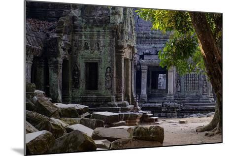 Ta Prohm Temple, Built in the 12th Century by King Jayavarman Vii, Angkor-Nathalie Cuvelier-Mounted Photographic Print