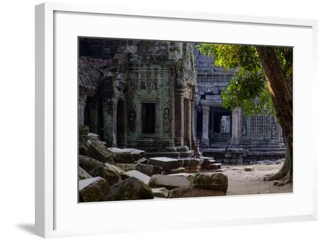 Ta Prohm Temple, Built in the 12th Century by King Jayavarman Vii, Angkor-Nathalie Cuvelier-Framed Art Print