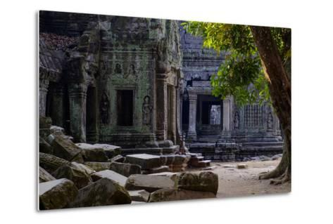Ta Prohm Temple, Built in the 12th Century by King Jayavarman Vii, Angkor-Nathalie Cuvelier-Metal Print