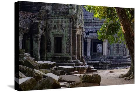 Ta Prohm Temple, Built in the 12th Century by King Jayavarman Vii, Angkor-Nathalie Cuvelier-Stretched Canvas Print