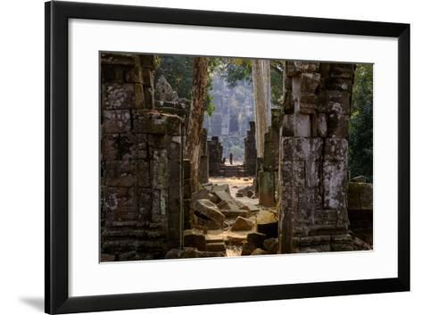 Temple of Prasat Thom (Prasat Kompeng), Dated 9th to 12th Century, Temple Complex of Koh Ker-Nathalie Cuvelier-Framed Art Print