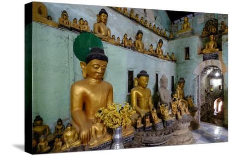 Pagoda of Shittaung, Dated 1535, Mrauk U, Rakhaing State, Myanmar (Burma), Asia-Nathalie Cuvelier-Stretched Canvas Print