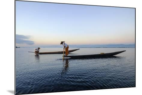 Intha Ethnic Group Fisherman, Inle Lake, Shan State, Myanmar (Burma), Asia-Nathalie Cuvelier-Mounted Photographic Print