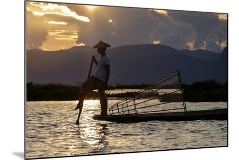 Intha Ethnic Group Fisherman, Inle Lake, Shan State, Myanmar (Burma), Asia-Nathalie Cuvelier-Mounted Photographic Print