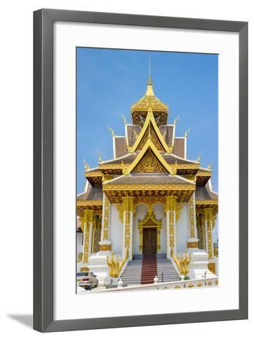 Vientiane City Pillar Shrine, Vientiane, Laos, Indochina, Southeast Asia, Asia-Jason Langley-Framed Art Print