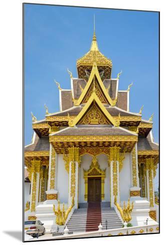 Vientiane City Pillar Shrine, Vientiane, Laos, Indochina, Southeast Asia, Asia-Jason Langley-Mounted Photographic Print