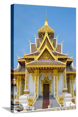 Vientiane City Pillar Shrine, Vientiane, Laos, Indochina, Southeast Asia, Asia-Jason Langley-Stretched Canvas Print