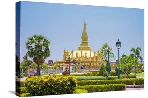 Pha That Luang Golden Stupa, Vientiane, Laos, Indochina, Southeast Asia, Asia-Jason Langley-Stretched Canvas Print