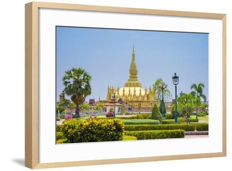 Pha That Luang Golden Stupa, Vientiane, Laos, Indochina, Southeast Asia, Asia-Jason Langley-Framed Art Print