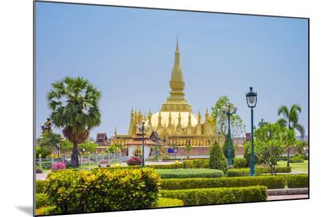 Pha That Luang Golden Stupa, Vientiane, Laos, Indochina, Southeast Asia, Asia-Jason Langley-Mounted Photographic Print