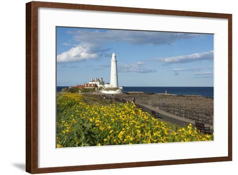 St. Mary's Lighthouse, Whitley Bay, Northumbria, England, United Kingdom, Europe-James Emmerson-Framed Art Print