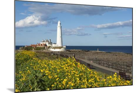 St. Mary's Lighthouse, Whitley Bay, Northumbria, England, United Kingdom, Europe-James Emmerson-Mounted Photographic Print