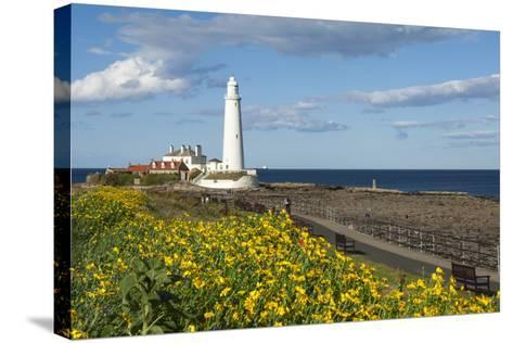 St. Mary's Lighthouse, Whitley Bay, Northumbria, England, United Kingdom, Europe-James Emmerson-Stretched Canvas Print
