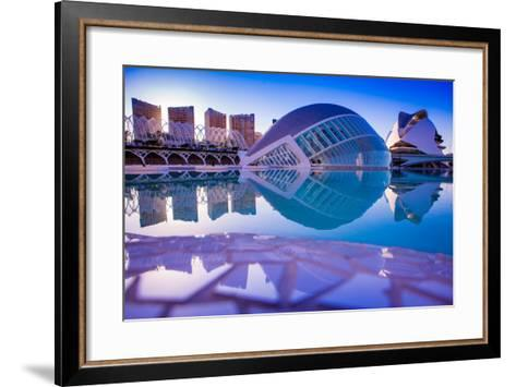 Hemispheric Buildings, City of Arts and Sciences, Valencia, Spain, Europe-Laura Grier-Framed Art Print