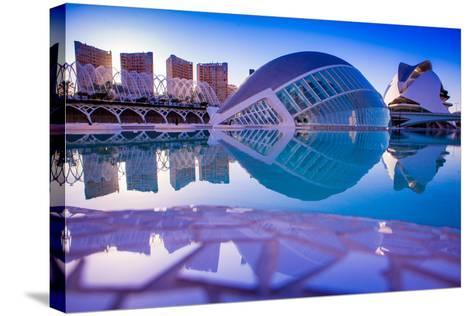 Hemispheric Buildings, City of Arts and Sciences, Valencia, Spain, Europe-Laura Grier-Stretched Canvas Print