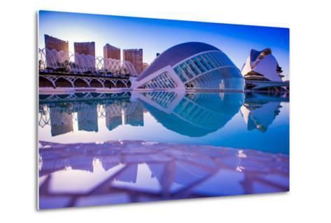 Hemispheric Buildings, City of Arts and Sciences, Valencia, Spain, Europe-Laura Grier-Metal Print
