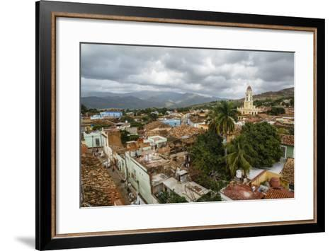 An Elevated View of the Terracotta Roofs and the Bell Tower of the Museo Nacional De La Lucha-Yadid Levy-Framed Art Print