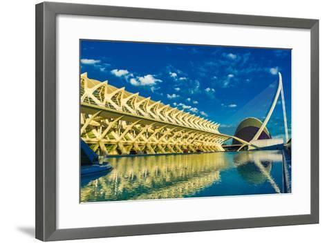 Hemispheric Buildings, City of Arts and Sciences, Valencia, Spain, Europe-Laura Grier-Framed Art Print