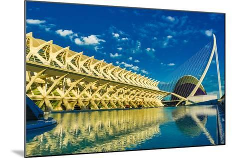 Hemispheric Buildings, City of Arts and Sciences, Valencia, Spain, Europe-Laura Grier-Mounted Photographic Print