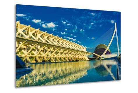 Hemispheric Buildings, City of Arts and Sciences, Valencia, Spain, Europe-Laura Grier-Metal Print