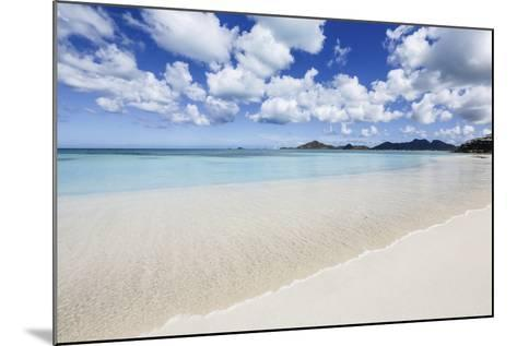 Blue Sky Frames the White Sand and the Turquoise Caribbean Sea, Ffryes Beach, Antigua-Roberto Moiola-Mounted Photographic Print