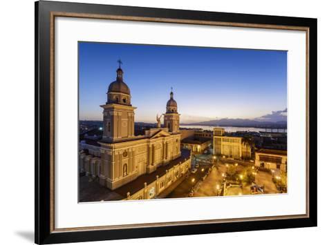 Nuestra Senora De La Asuncion Cathedral at Parque Cespedes, Santiago De Cuba, Cuba-Yadid Levy-Framed Art Print