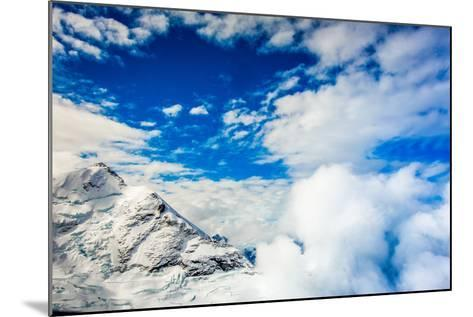 Aerial View of Glacier Peak on Fox Glacier, South Island, New Zealand, Pacific-Laura Grier-Mounted Photographic Print