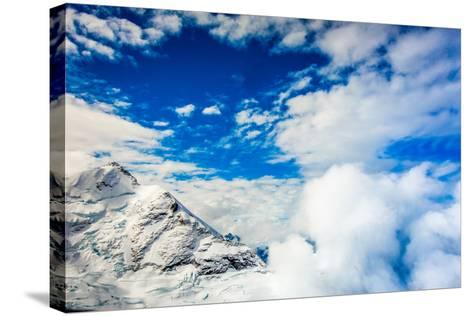 Aerial View of Glacier Peak on Fox Glacier, South Island, New Zealand, Pacific-Laura Grier-Stretched Canvas Print