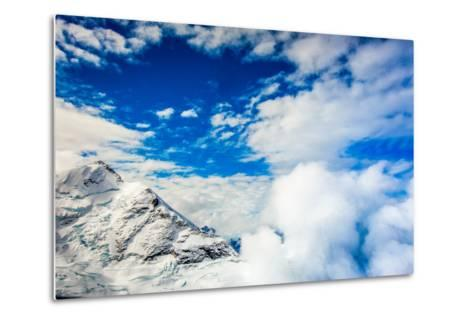 Aerial View of Glacier Peak on Fox Glacier, South Island, New Zealand, Pacific-Laura Grier-Metal Print