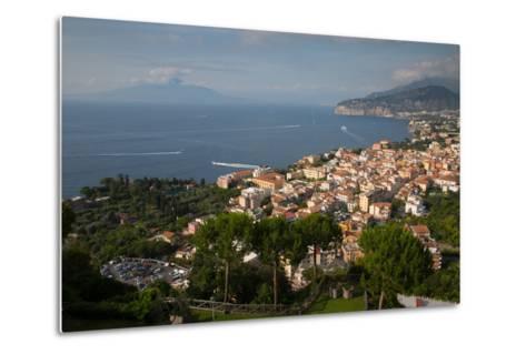 View of Vesuvio and Terrheinian Sea from Above Sorrento, Costiera Amalfitana (Amalfi Coast)-Frank Fell-Metal Print