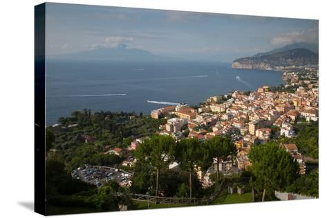 View of Vesuvio and Terrheinian Sea from Above Sorrento, Costiera Amalfitana (Amalfi Coast)-Frank Fell-Stretched Canvas Print