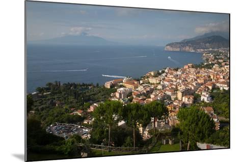 View of Vesuvio and Terrheinian Sea from Above Sorrento, Costiera Amalfitana (Amalfi Coast)-Frank Fell-Mounted Photographic Print