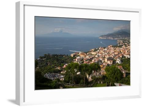 View of Vesuvio and Terrheinian Sea from Above Sorrento, Costiera Amalfitana (Amalfi Coast)-Frank Fell-Framed Art Print