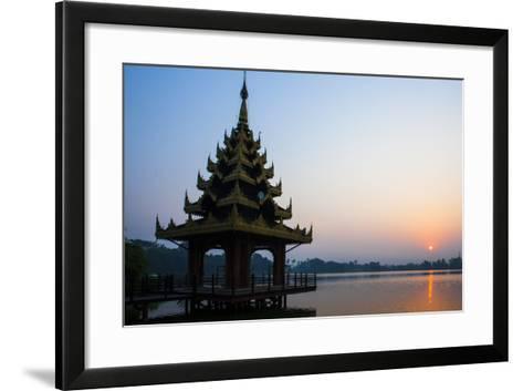 Early Morning View of Royal Kaytumadi Hotel, Toungoo, Myanmar (Burma), Asia-Thomas L-Framed Art Print