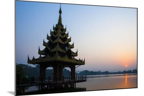 Early Morning View of Royal Kaytumadi Hotel, Toungoo, Myanmar (Burma), Asia-Thomas L-Mounted Photographic Print
