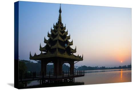 Early Morning View of Royal Kaytumadi Hotel, Toungoo, Myanmar (Burma), Asia-Thomas L-Stretched Canvas Print